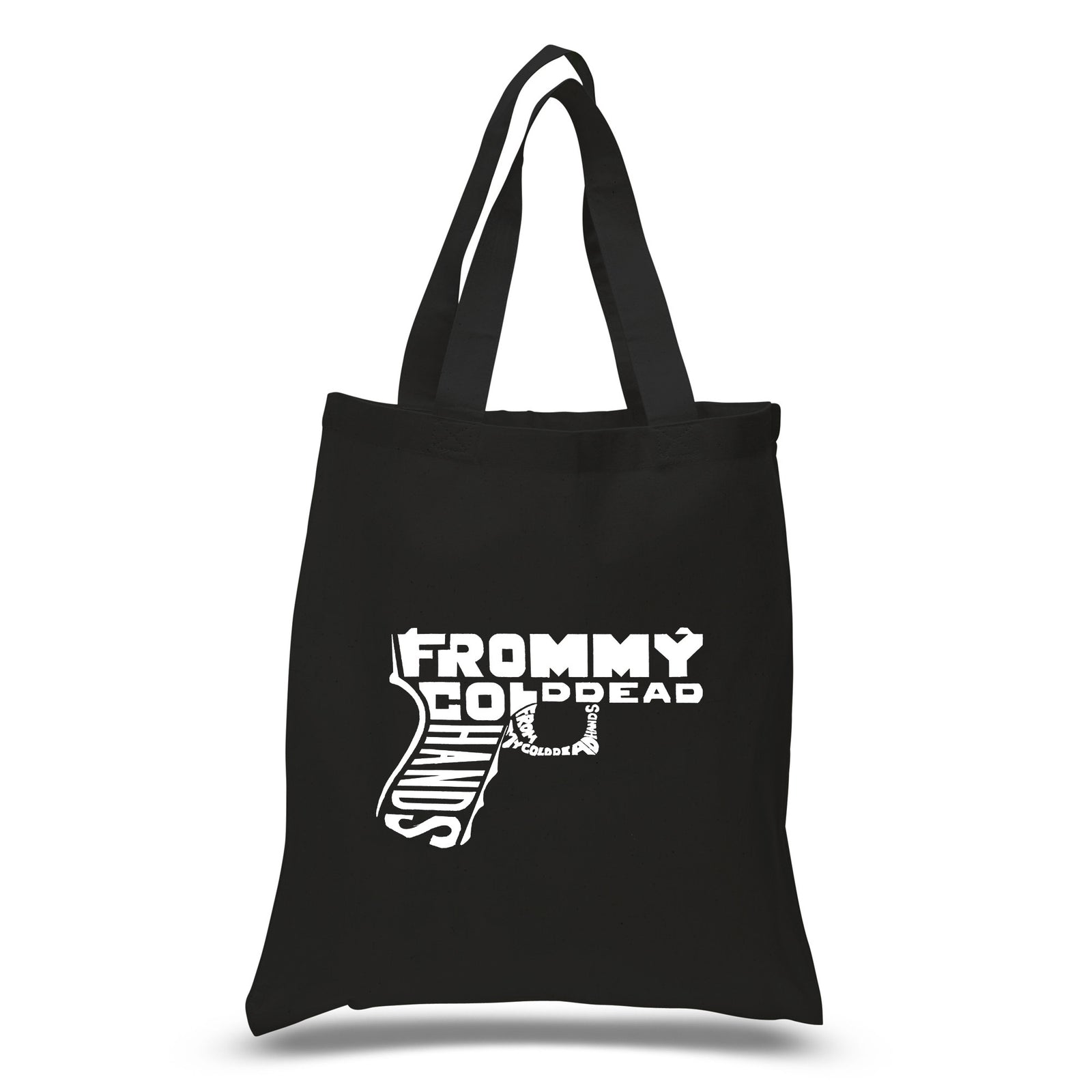 Los Angeles Pop Art Small Tote Bag - Out of My cold Dead Hands Gun