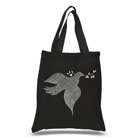 Small Tote Bag - THE OM SYMBOL OUT OF YOGA POSES