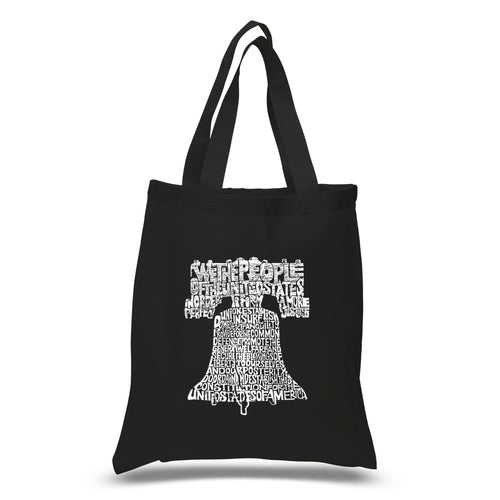 Los Angeles Pop Art Small Tote Bag - Liberty Bell