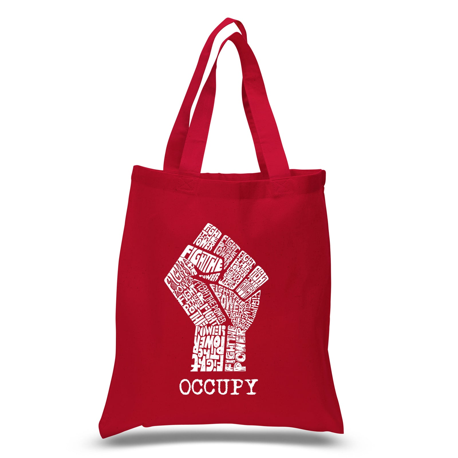 Small Tote Bag - OCCUPY WALL STREET - FIGHT THE POWER