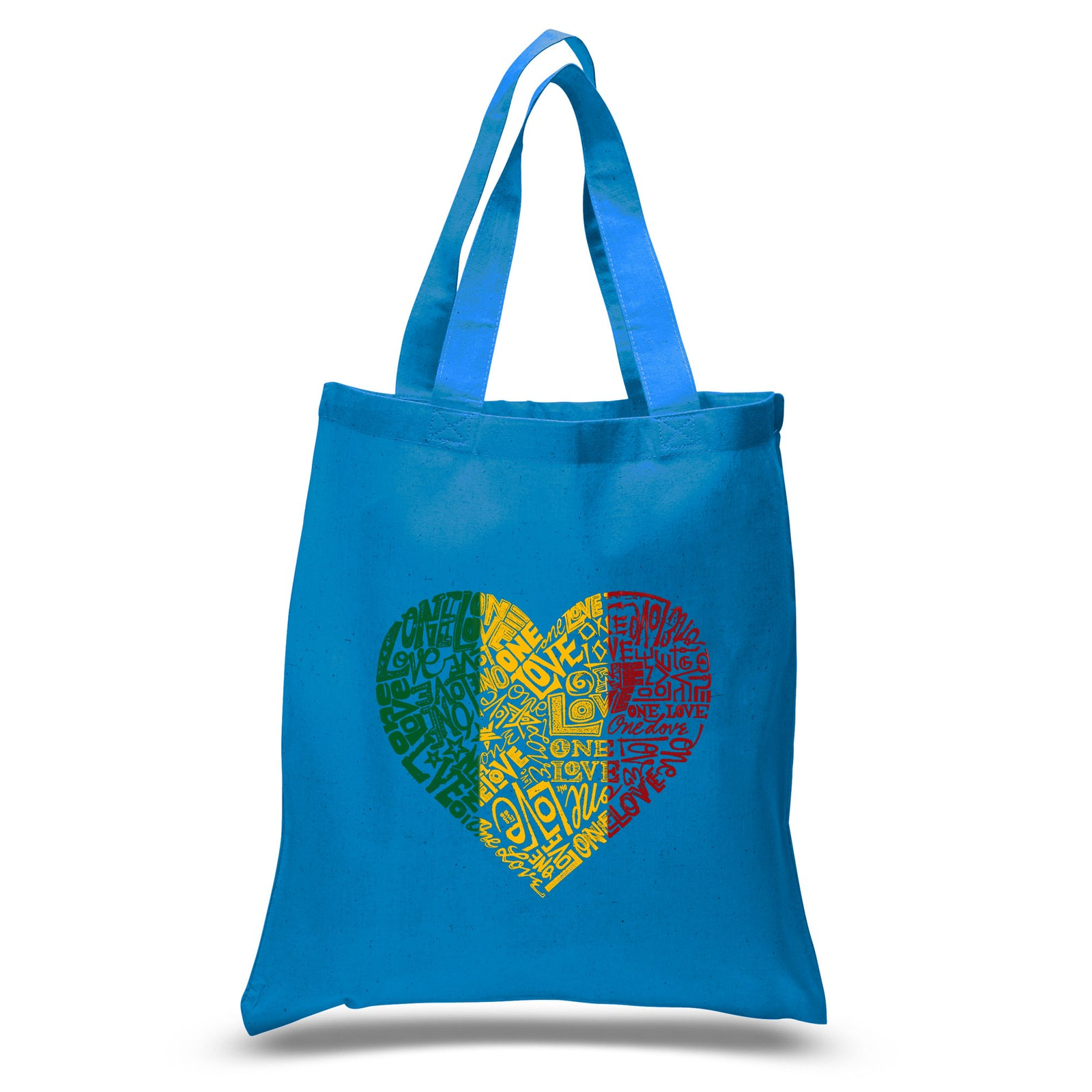Los Angeles Pop Art Small Tote Bag - One Love Heart