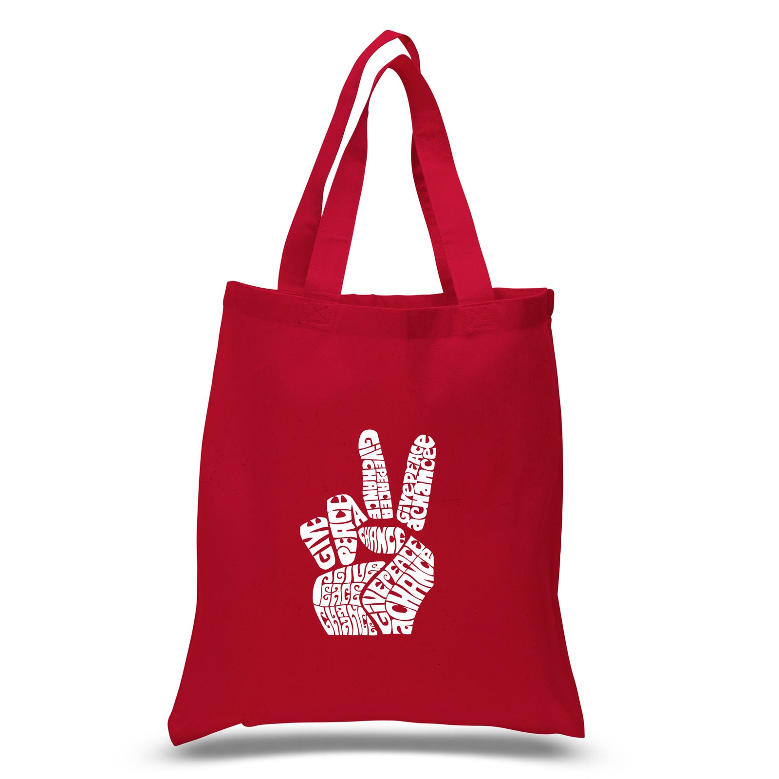 Small Tote Bag - PEACE FINGERS