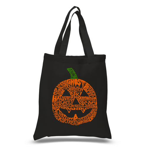 Small Word Art Tote Bag - Halloween Pumpkin