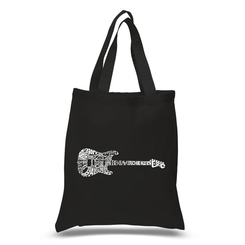 Los Angeles Pop Art Small Tote Bag - Rock Guitar