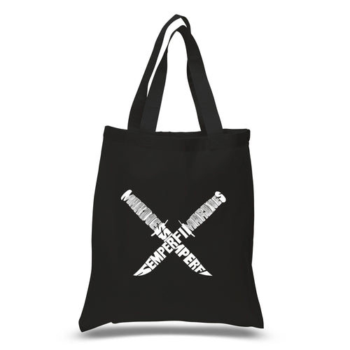 Los Angeles Pop Art Small Tote Bag - Semper Fi