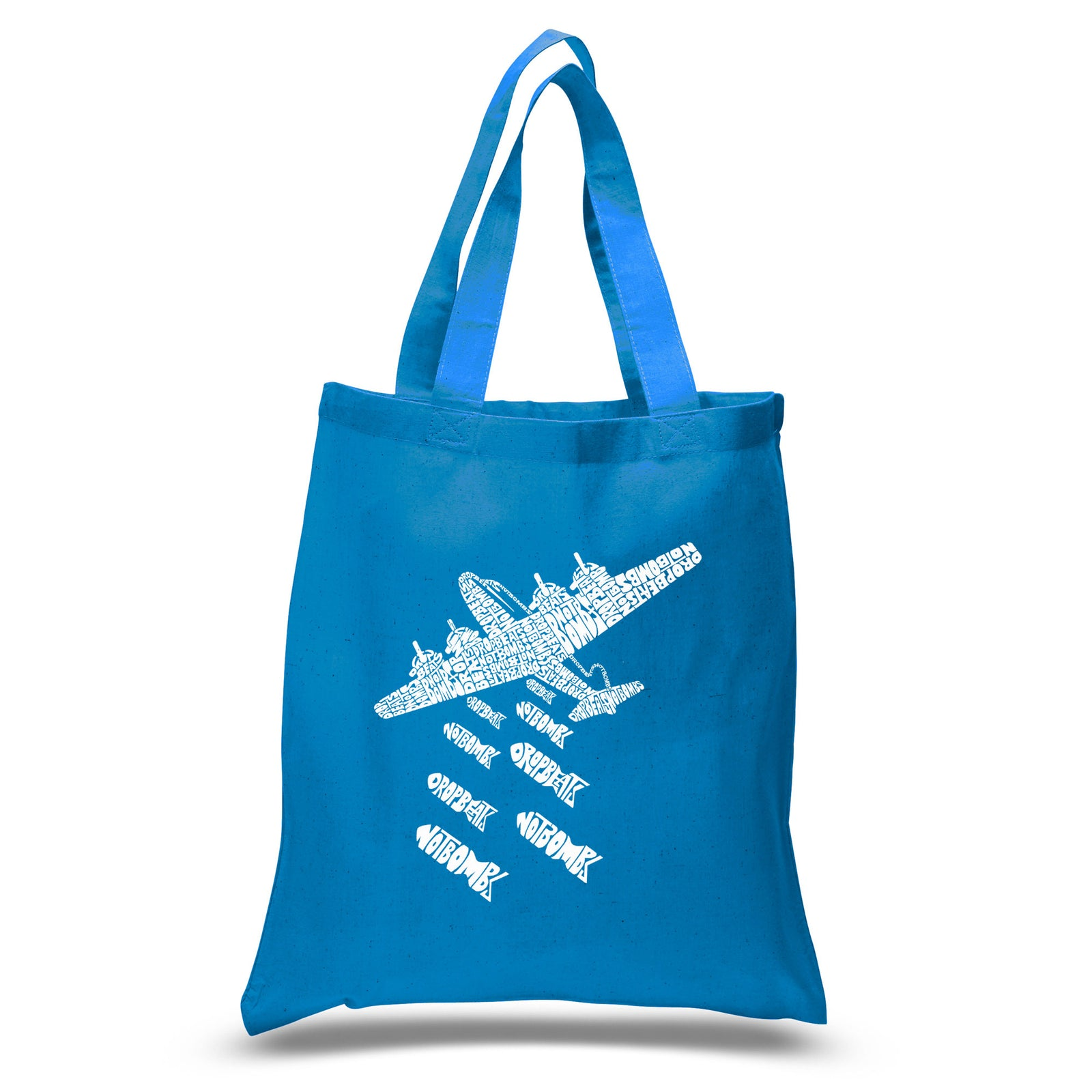Small Tote Bag - DROP BEATS NOT BOMBS