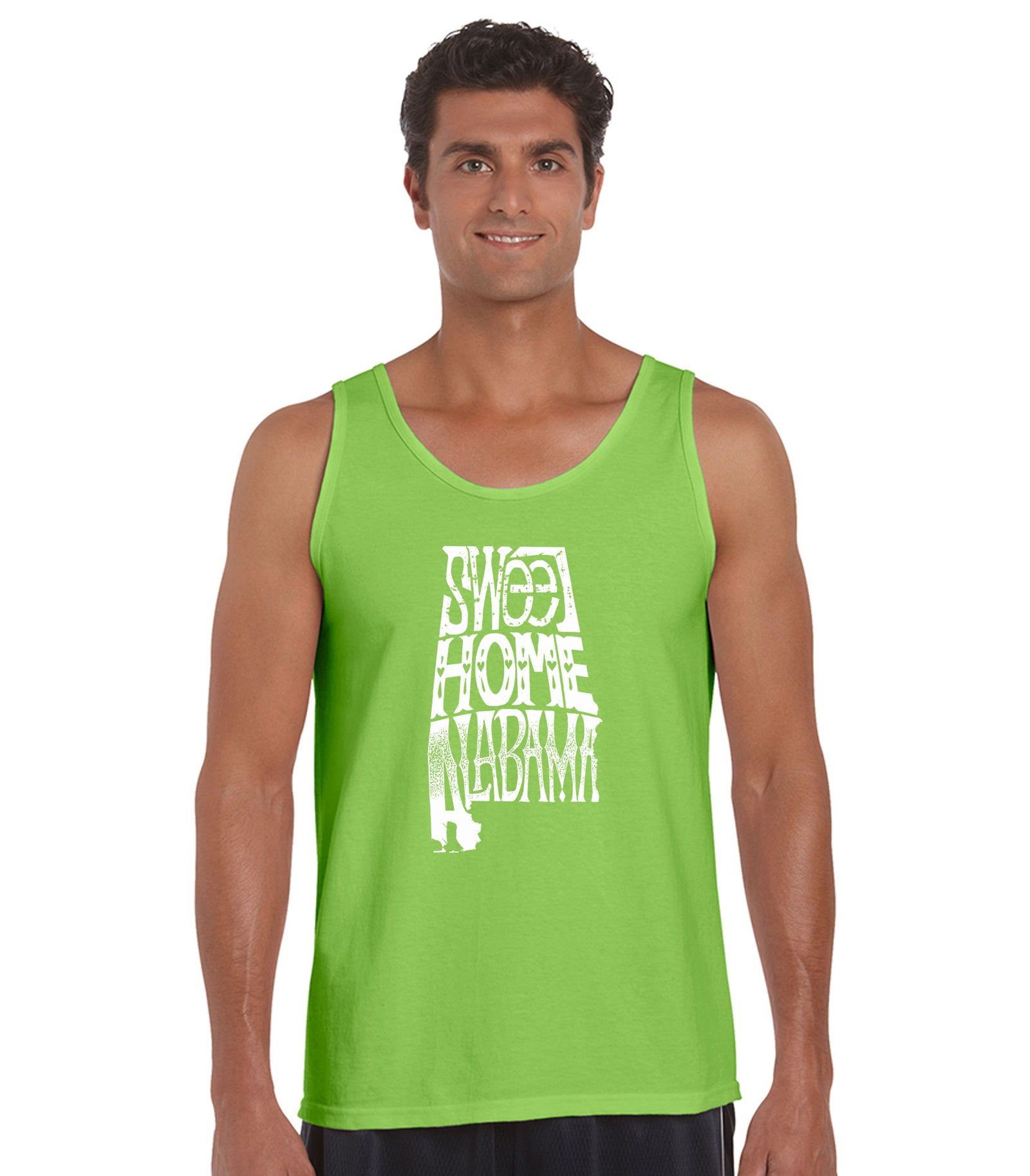 LA Pop Art Men's Word Art Tank Top - Sweet Home Alabama Casual No Sleeve