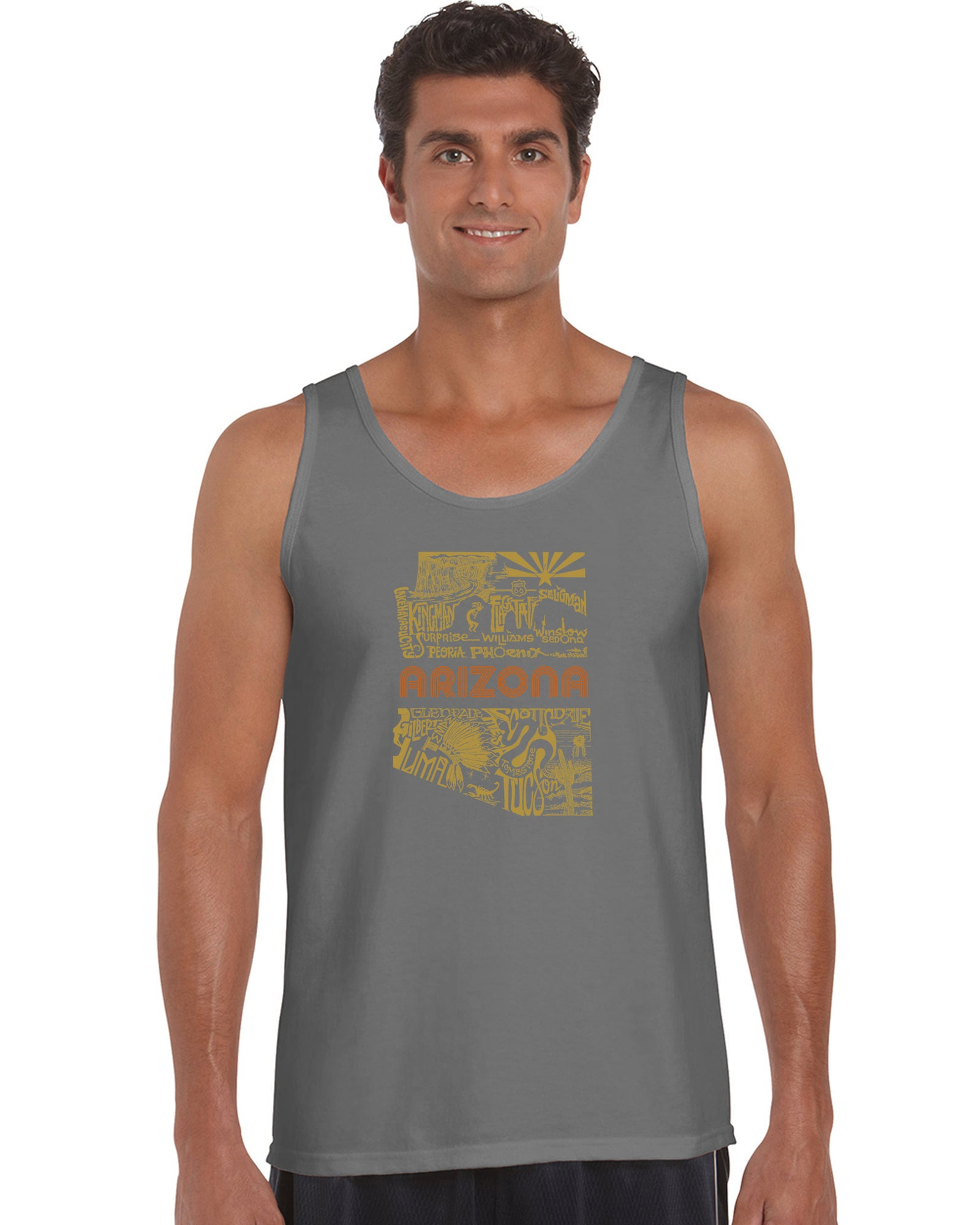 LA Pop Art Men's Word Art Tank Top - Az Pics Casual No Sleeve