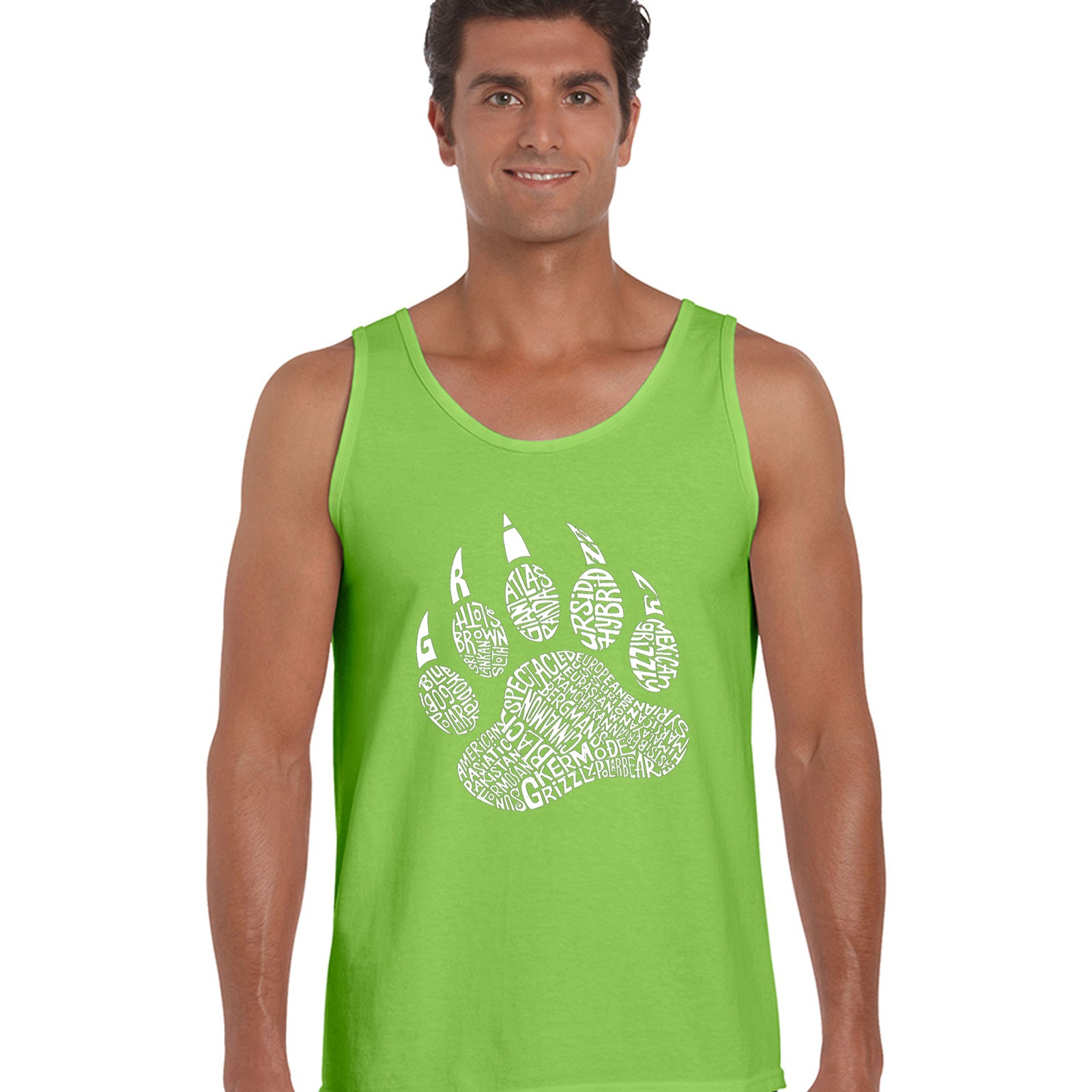 Men's Word Art Tank Top - Bear Claw