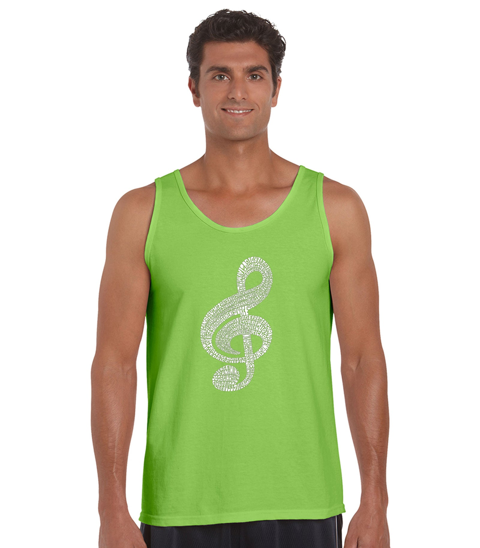 Mens Tank Top  - Music Note