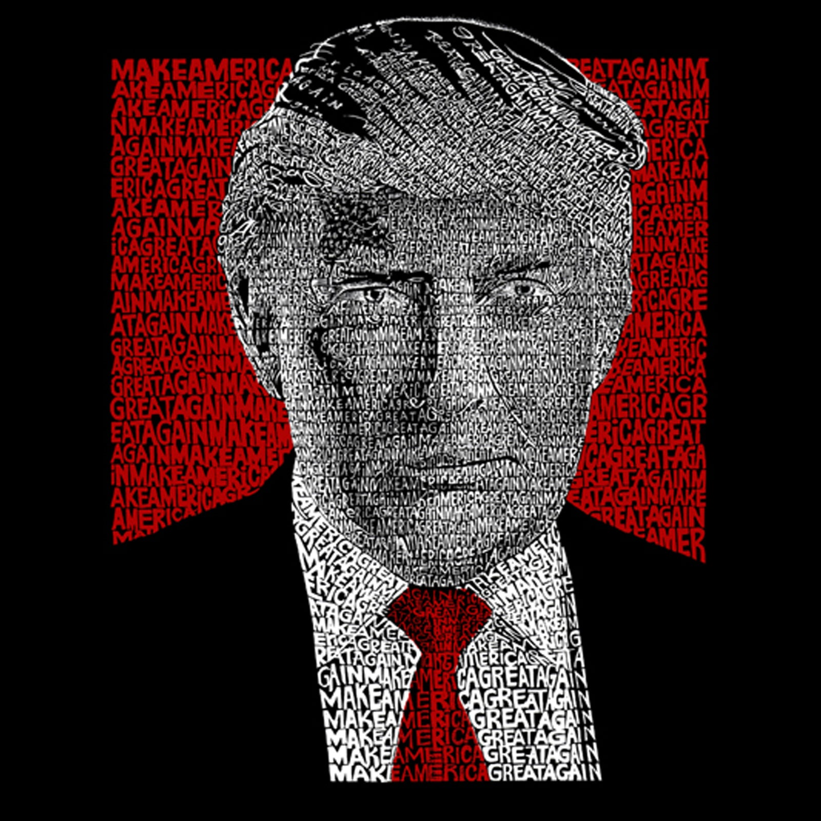 Men's Premium Blend Word Art T-shirt - TRUMP 2016 - Make America Great Again