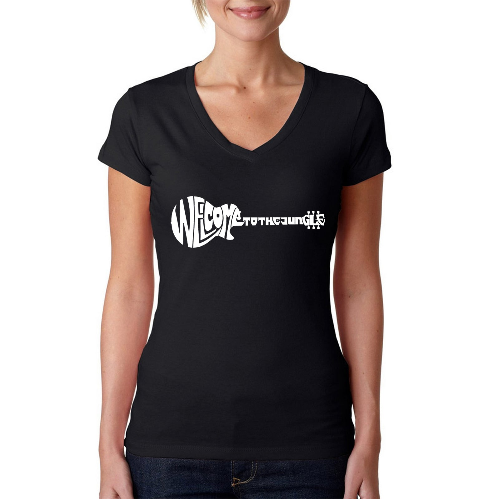 Women's V-Neck T-Shirt - Welcome to the Jungle