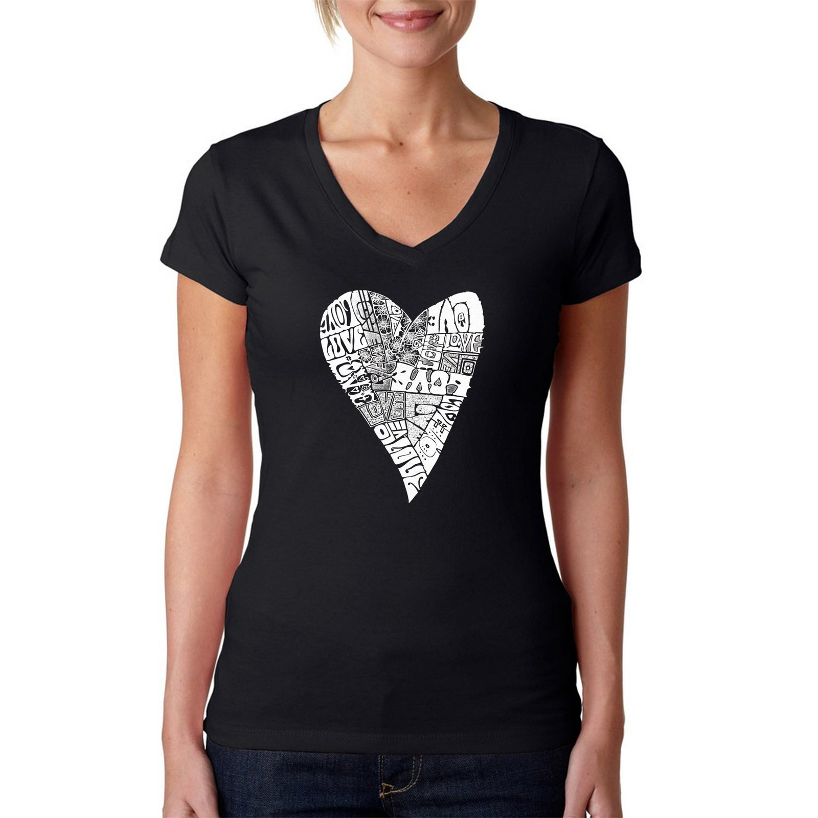 Women's V-Neck T-Shirt - Lots of Love
