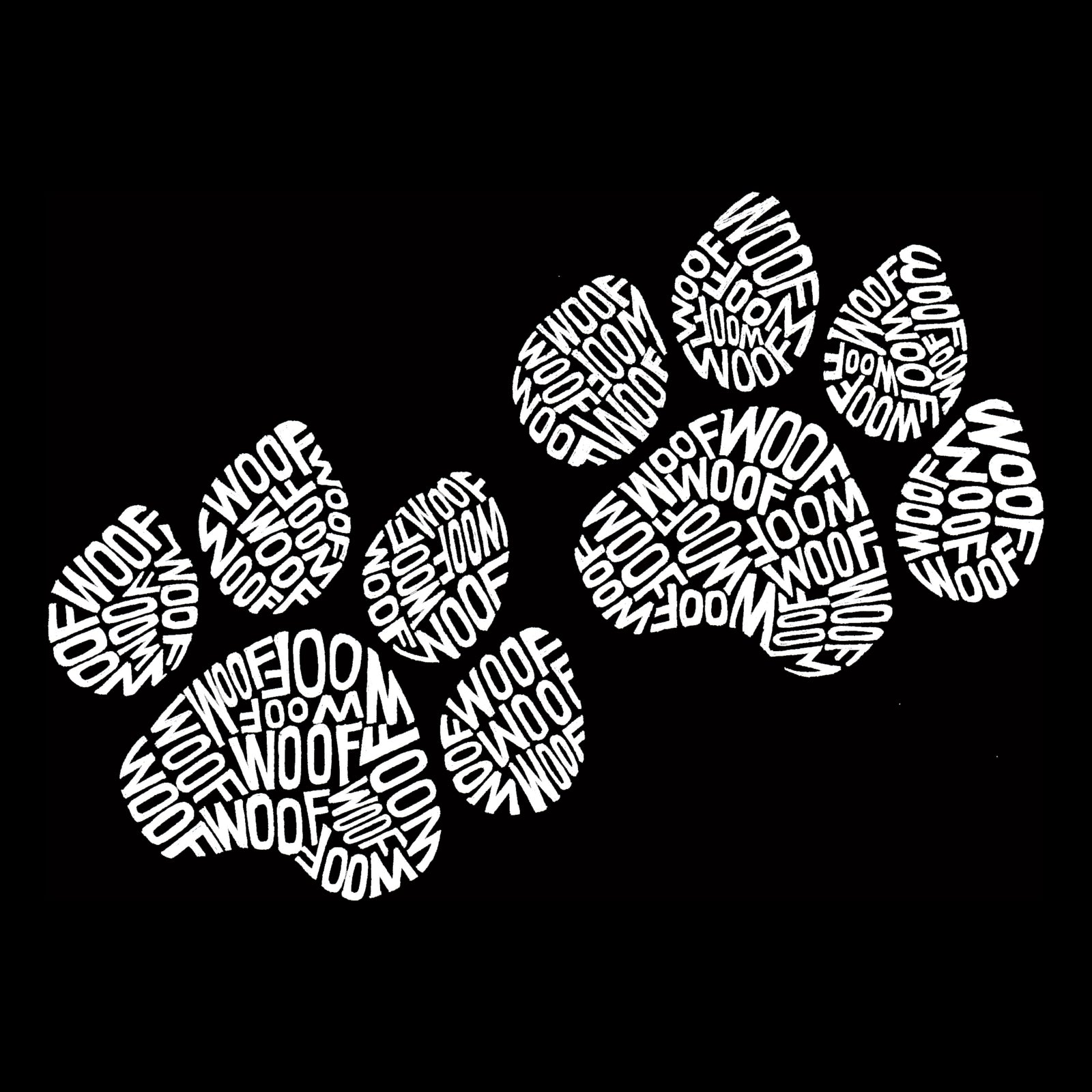 Men's Sleeveless T-shirt - Woof Paw Prints