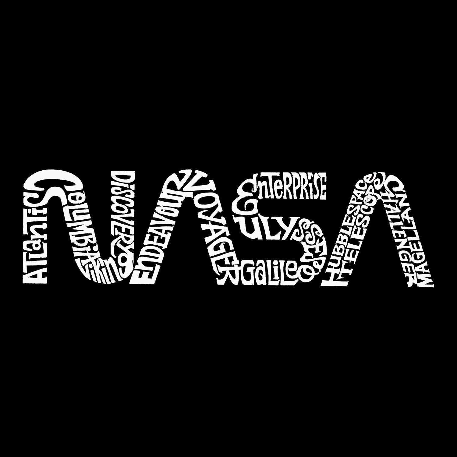 Women's Word Art Long Sleeve T-Shirt - Worm Nasa