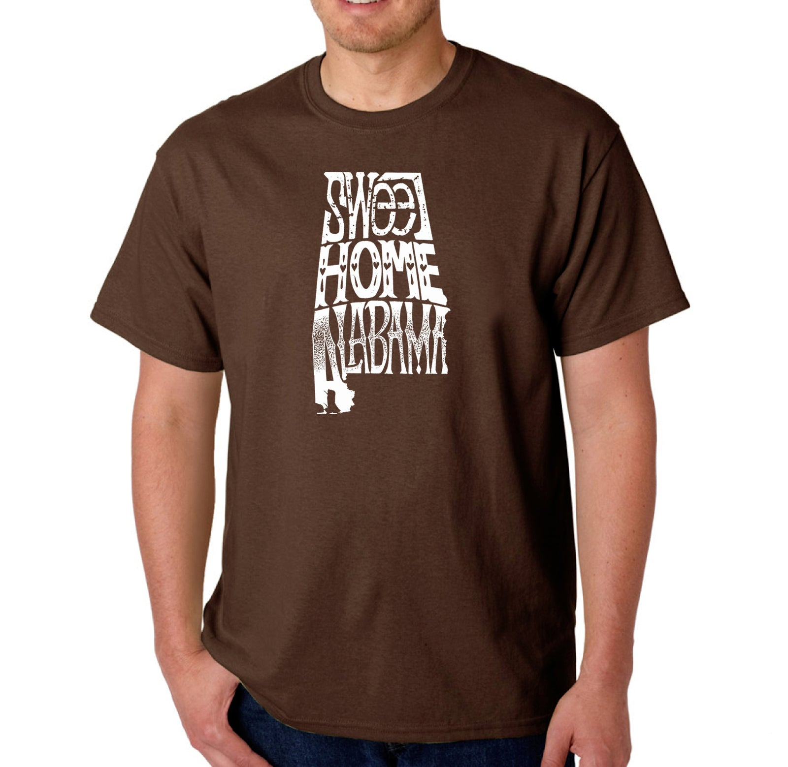 LA Pop Art Men's Word Art T-shirt - Sweet Home Alabama