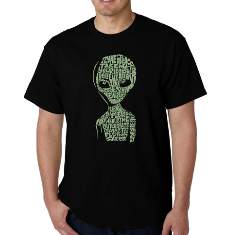 LA Pop Art Men's Word Art T-shirt - Alien