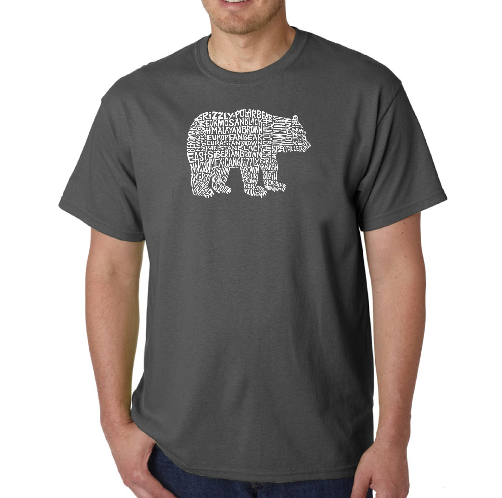 LA Pop Art Men's Word Art T-shirt - Bear Species
