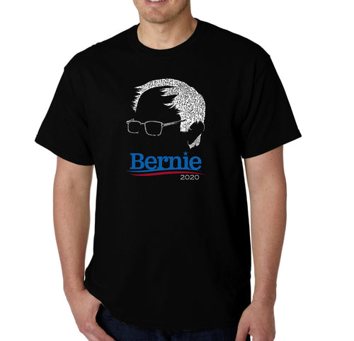 LA Pop Art Men's Word Art T-shirt - Bernie Sanders 2020