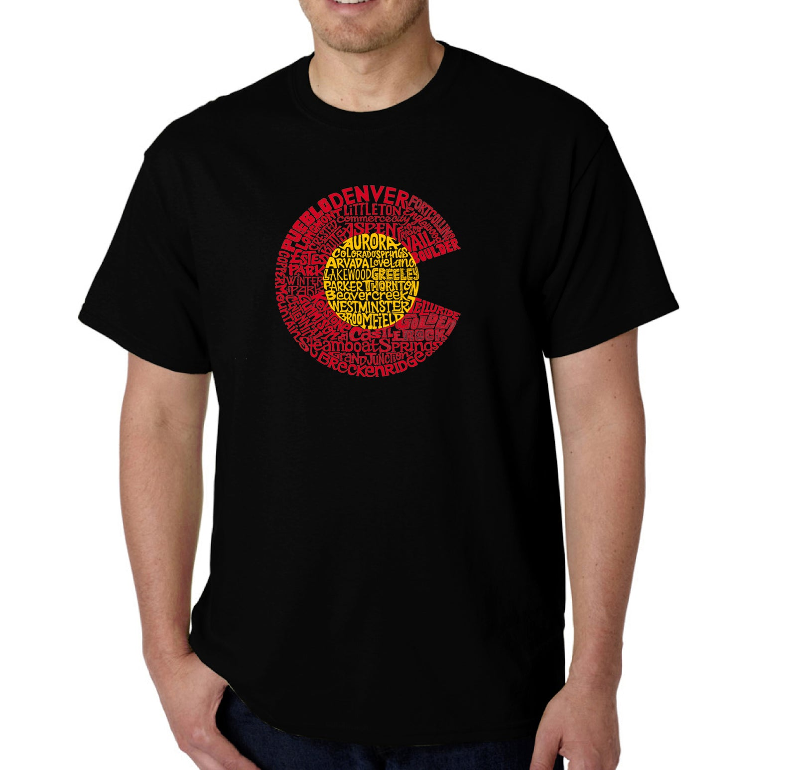LA Pop Art Men's Word Art T-shirt - Colorado