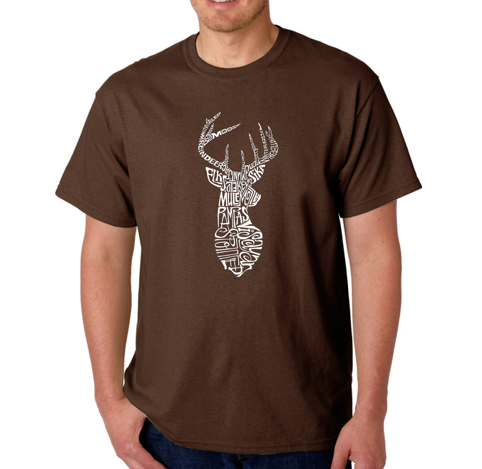 Men's T-shirt - Types of Deer