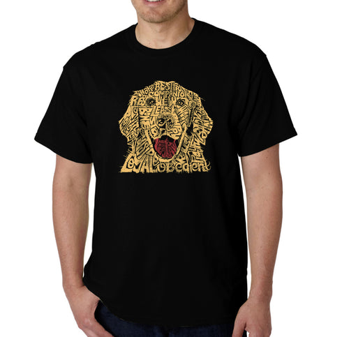 LA Pop Art Men's Word Art T-shirt - Dog