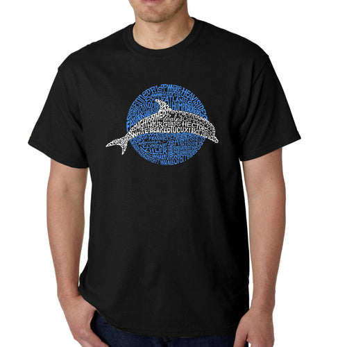 Men's Word Art T-shirt - Species of Dolphin