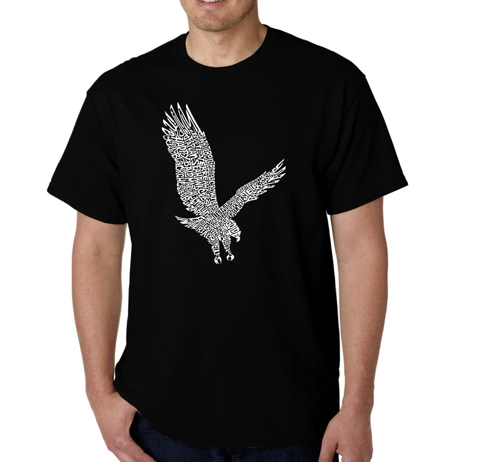 LA Pop Art Men's Word Art T-shirt - Eagle