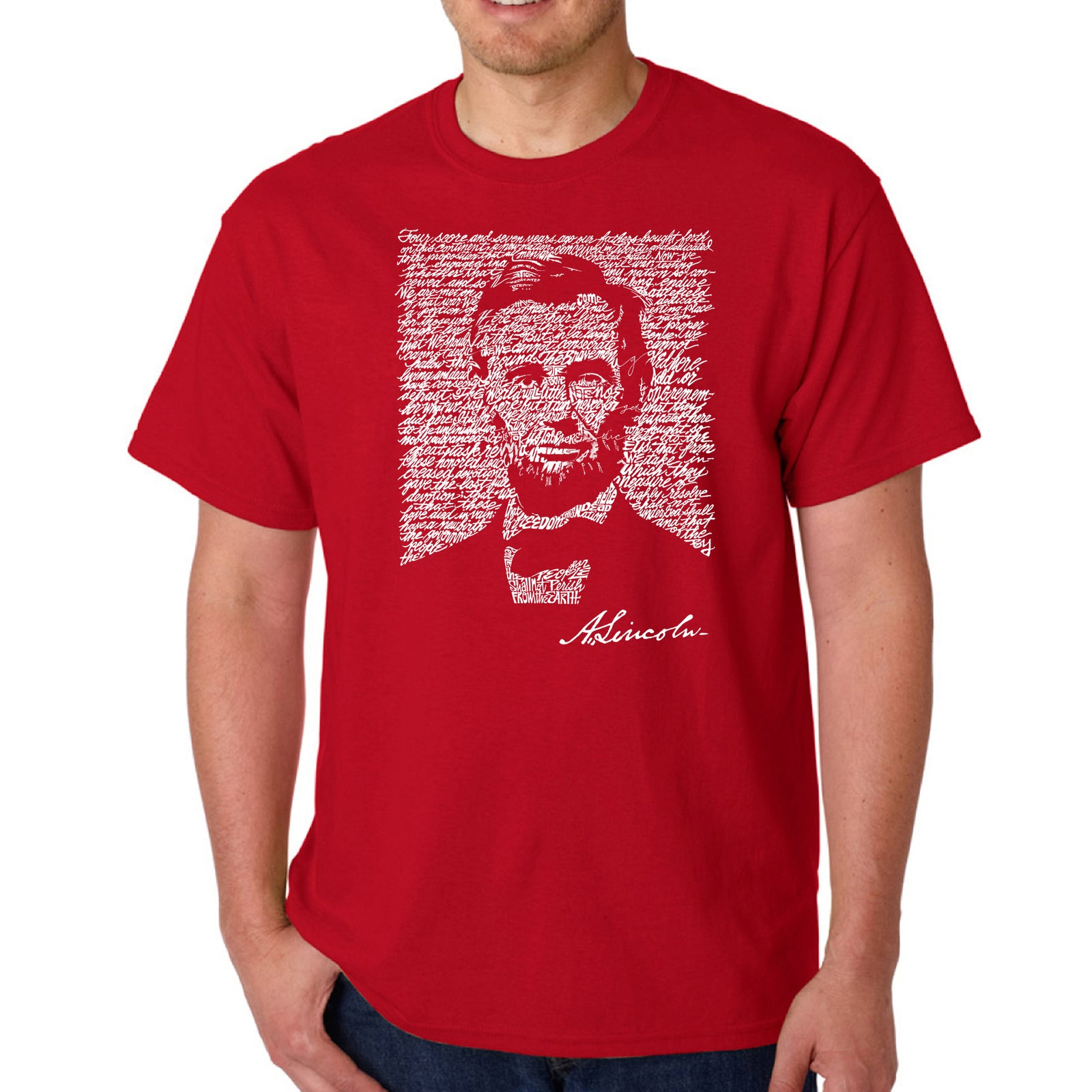 Men's T-shirt - ABRAHAM LINCOLN - GETTYSBURG ADDRESS