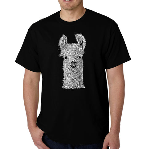 LA Pop Art Men's Word Art T-shirt - Llama