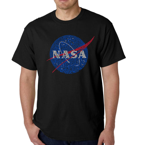 Men's Word Art T-shirt - NASA's Most Notable Missions