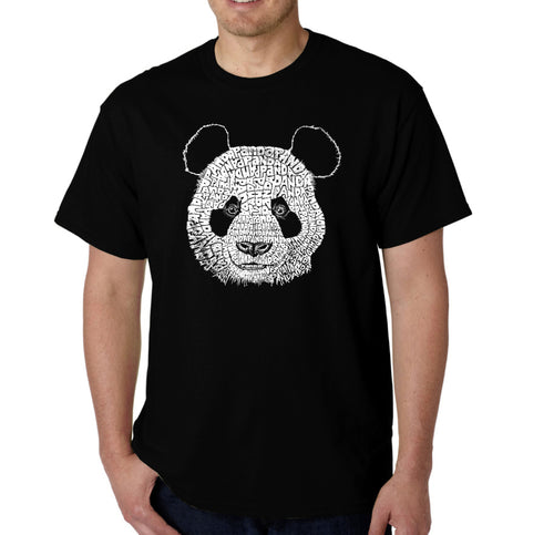 LA Pop Art Men's Word Art T-shirt - Panda
