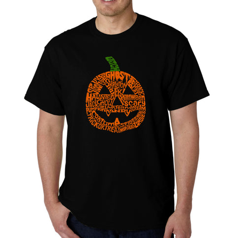 LA Pop Art Men's Word Art T-shirt - Pumpkin