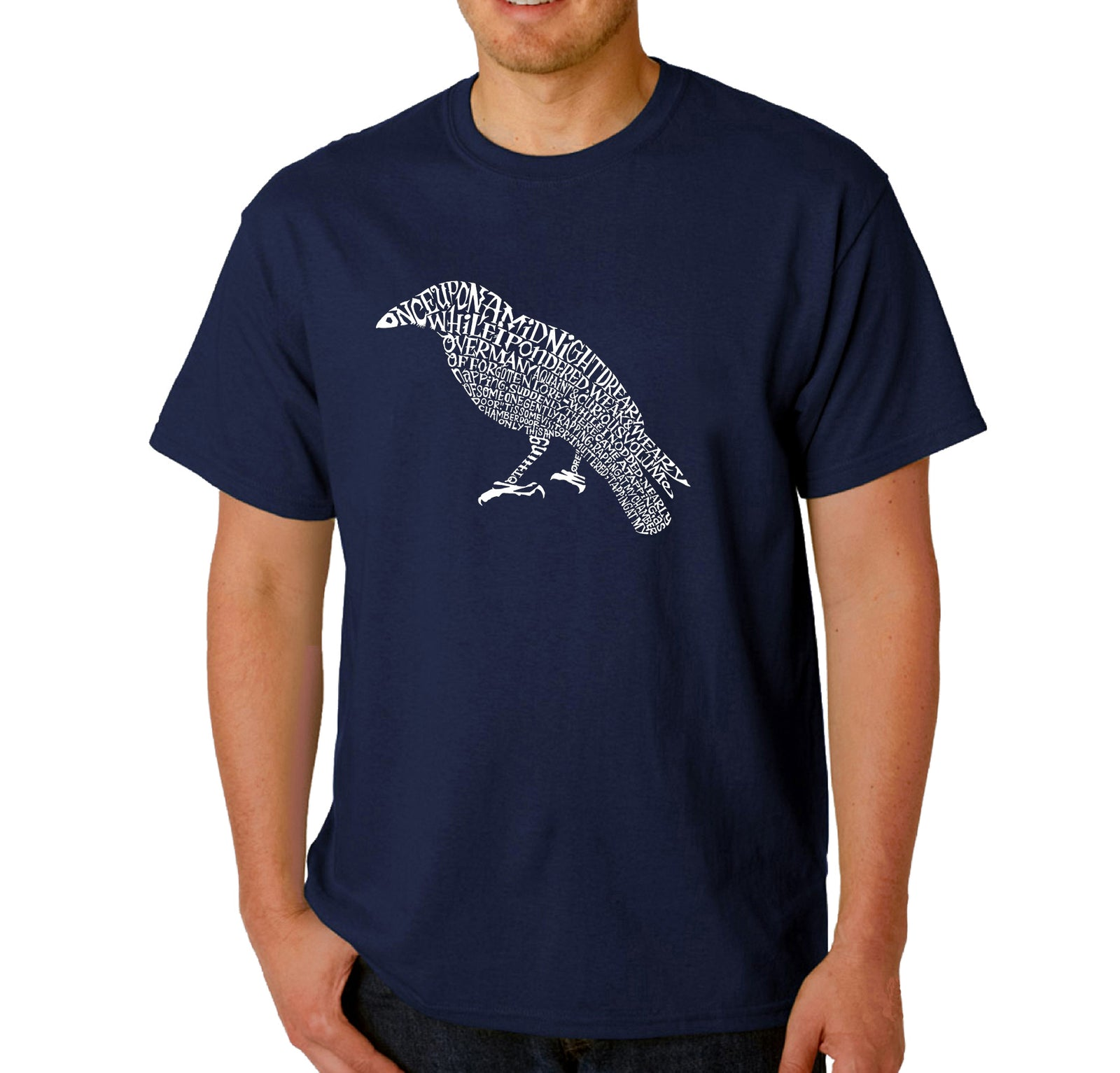 Men's Word Art T-shirt - Edgar Allen Poe's The Raven
