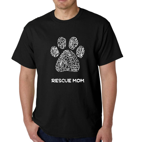 Men's Word Art T-shirt - Rescue Mom