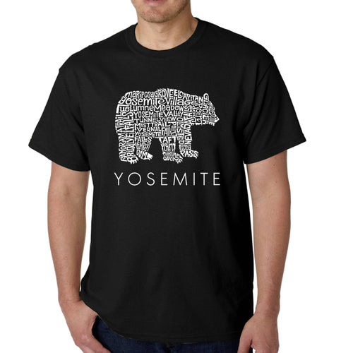 Men's Word Art T-shirt - Yosemite Bear
