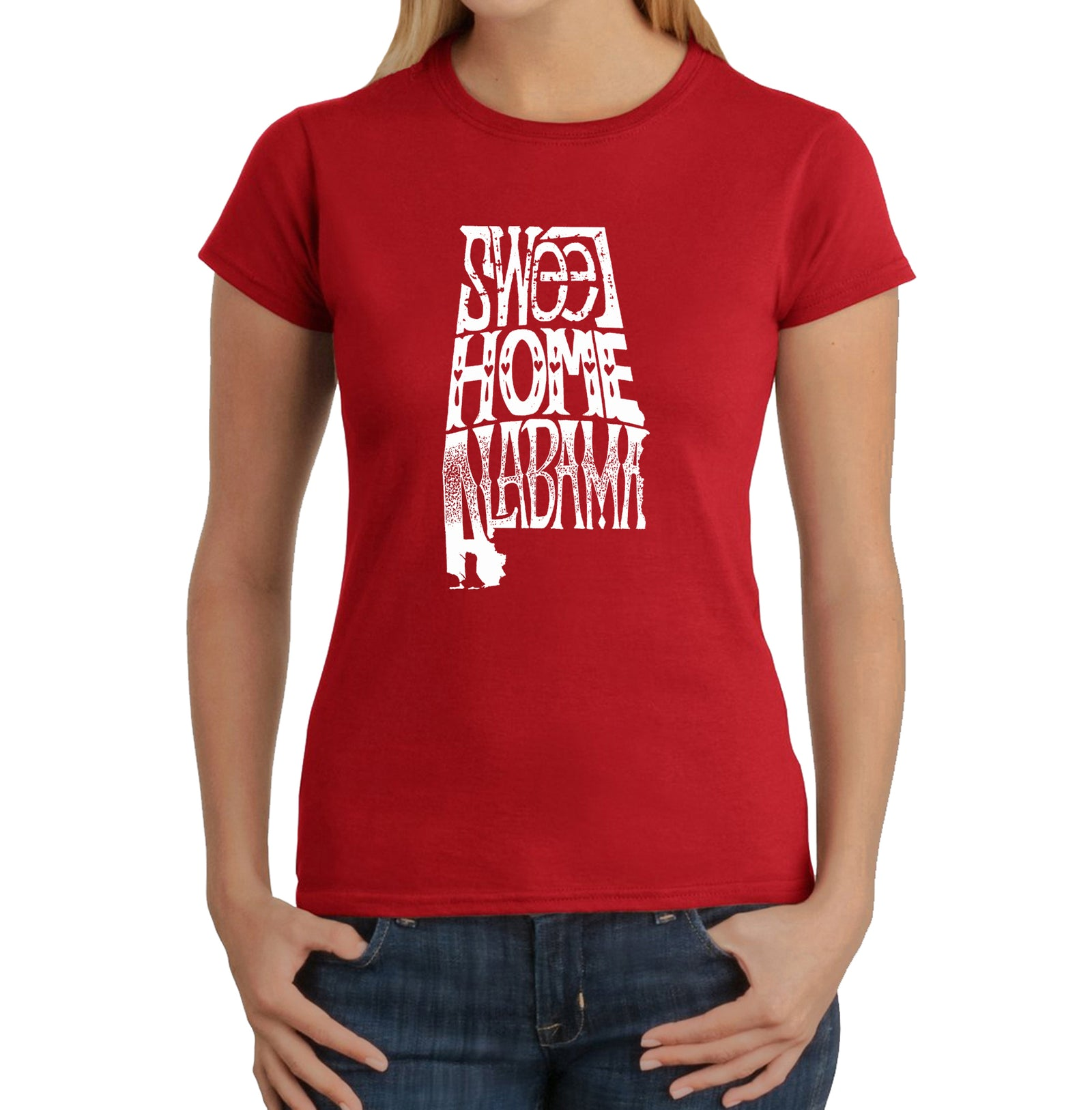 Women's Word Art T-Shirt - Sweet Home Alabama