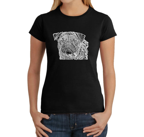 Women's T-Shirt - Pug Face