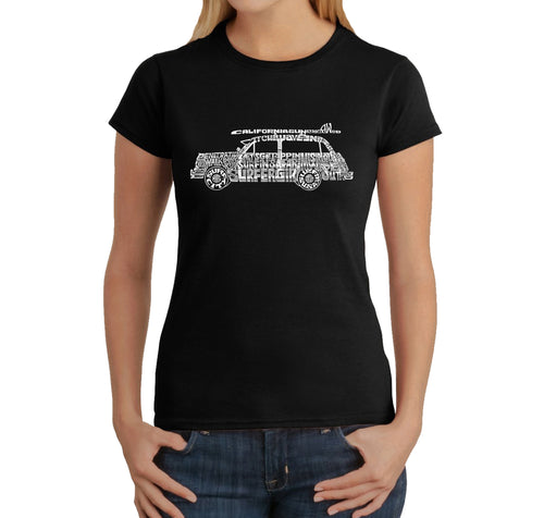 Women's T-Shirt - Woody - Classic Surf Songs