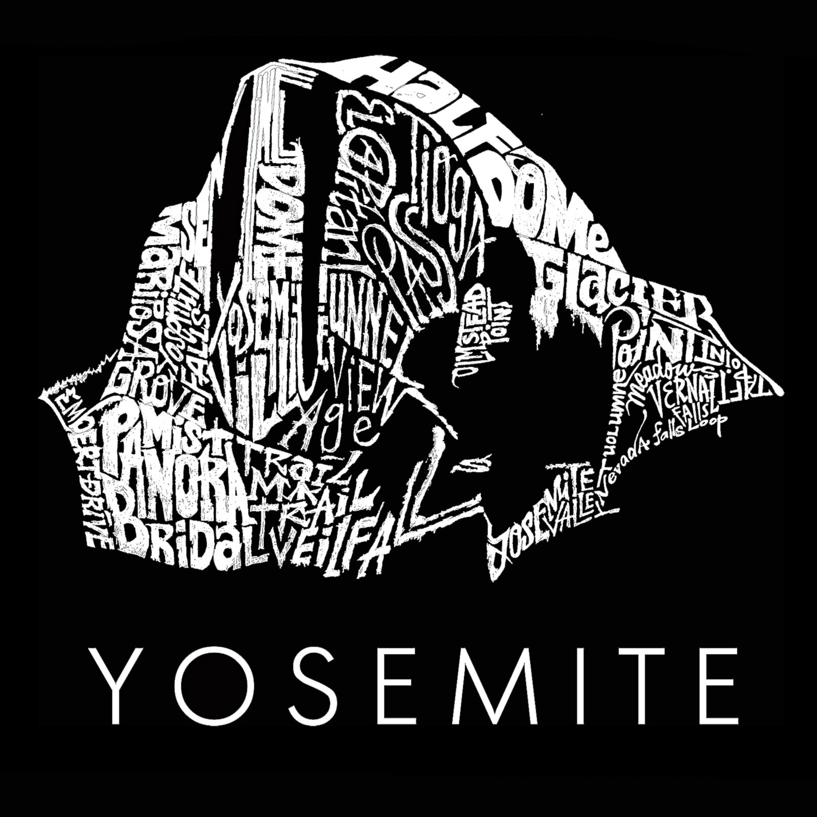 Men's Premium Blend Word Art T-shirt - Yosemite