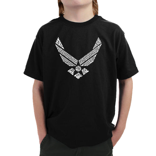 Boy's T-shirt - LYRICS TO THE AIR FORCE SONG