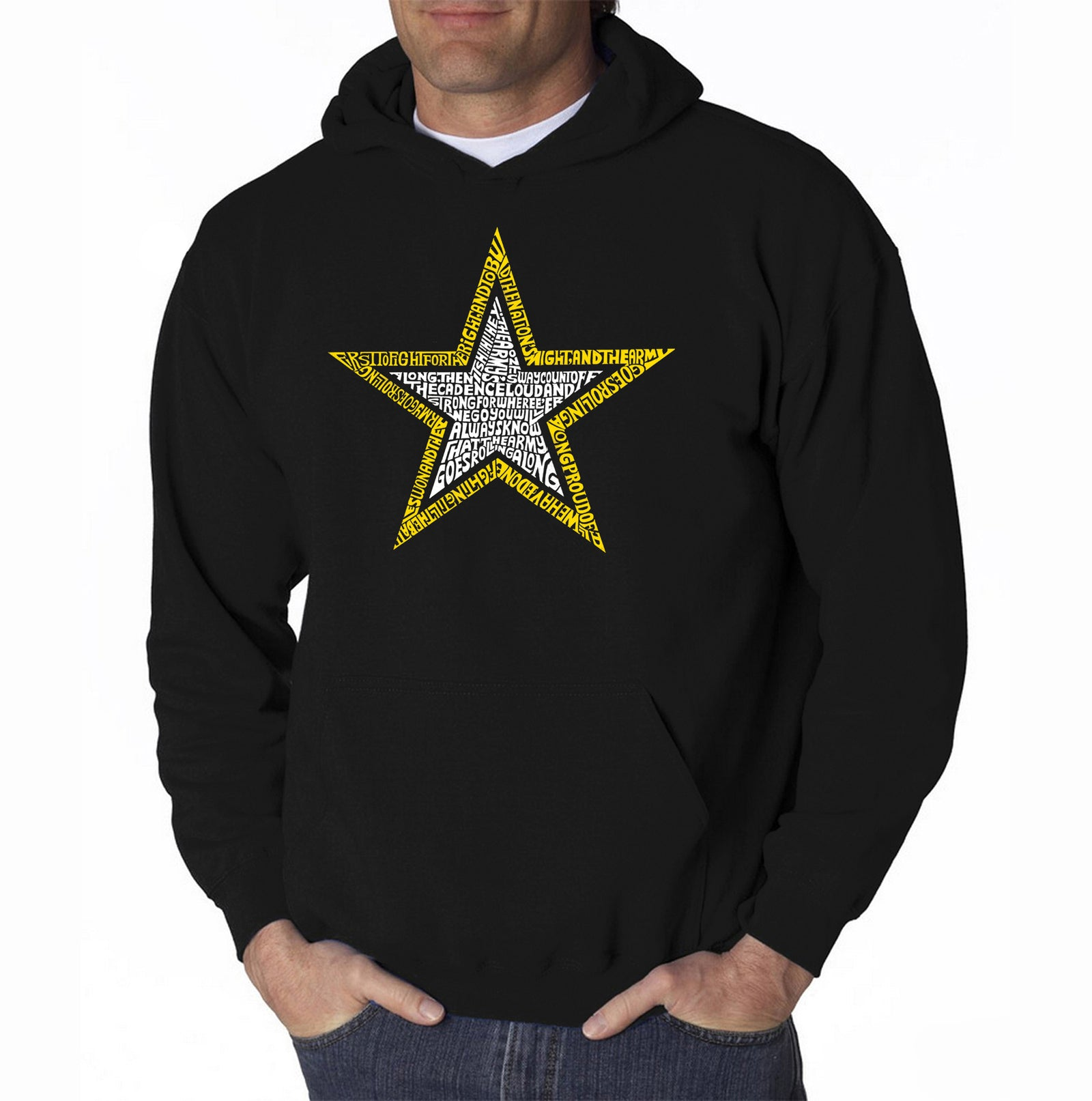Men's Hooded Sweatshirt - LYRICS TO THE ARMY SONG