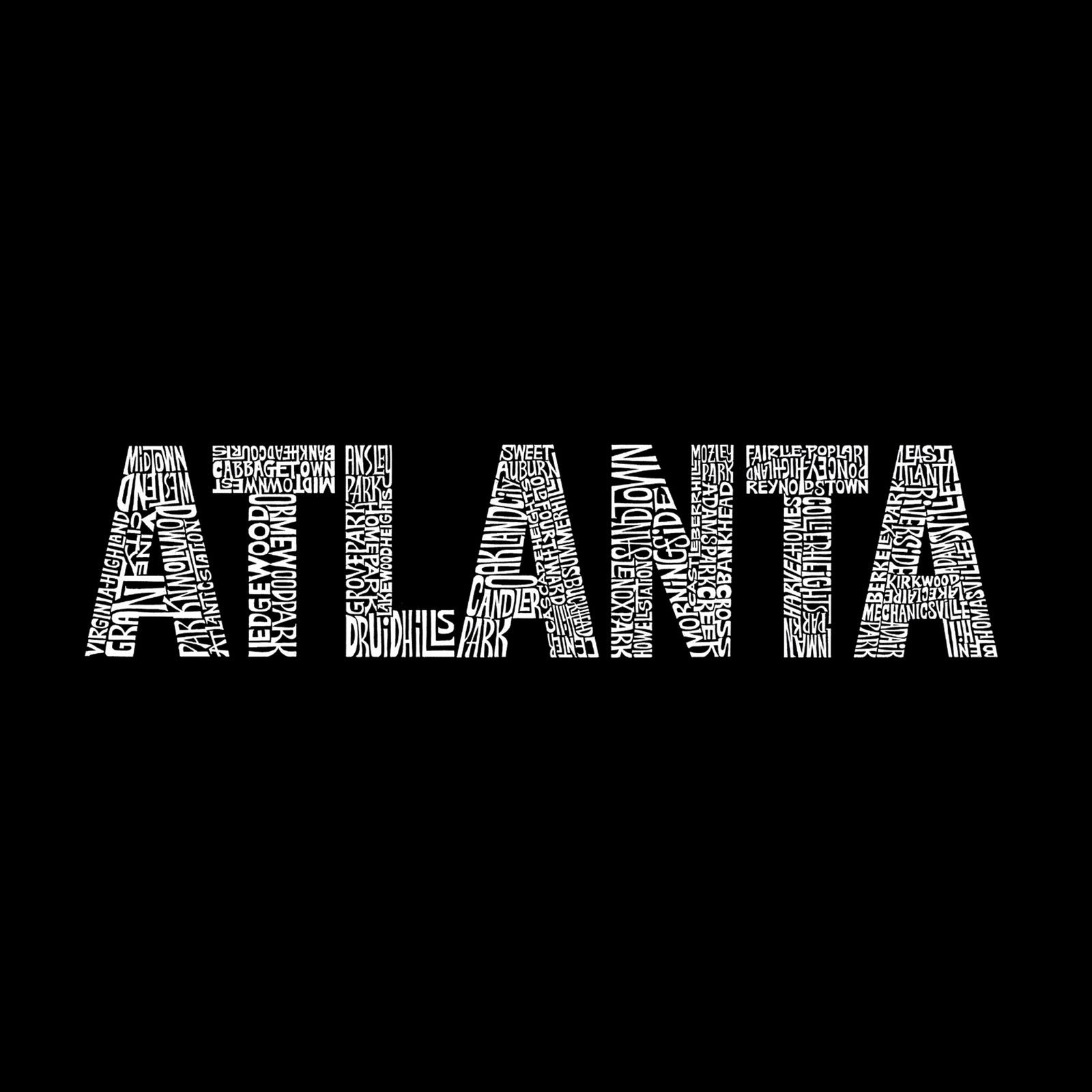 Women's V-Neck T-Shirt - ATLANTA NEIGHBORHOODS