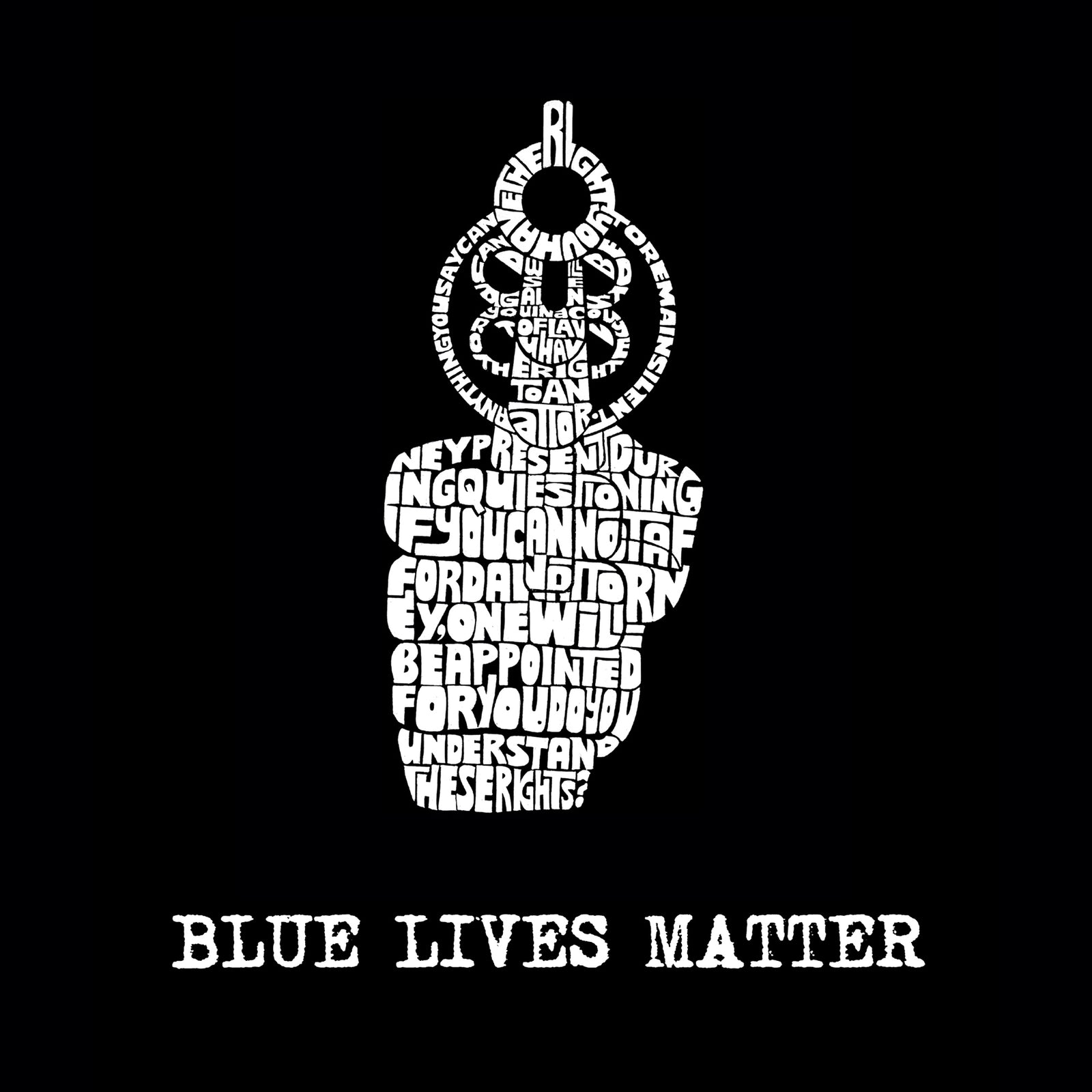 Drawstring Backpack - Blue Lives Matter