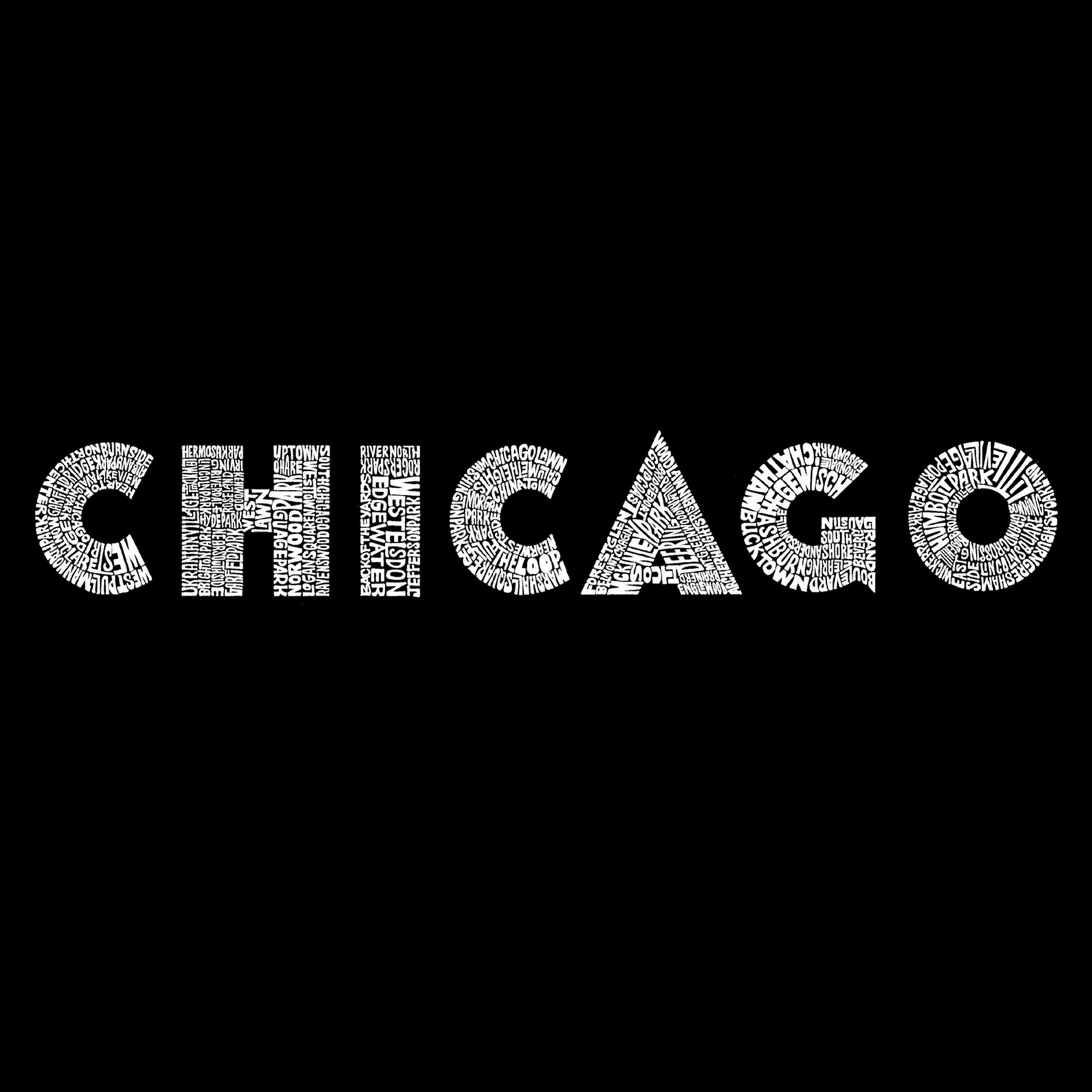 Women's V-Neck T-Shirt - CHICAGO NEIGHBORHOODS