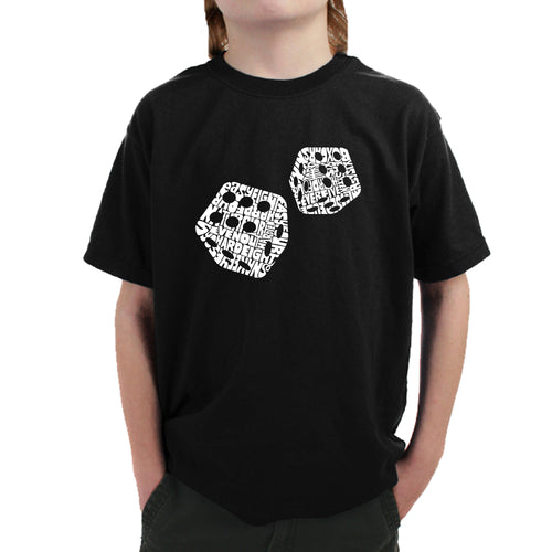Boy's T-shirt - DIFFERENT ROLLS THROWN IN THE GAME OF CRAPS
