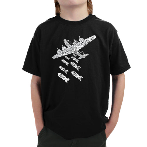 Boy's T-shirt - DROP BEATS NOT BOMBS