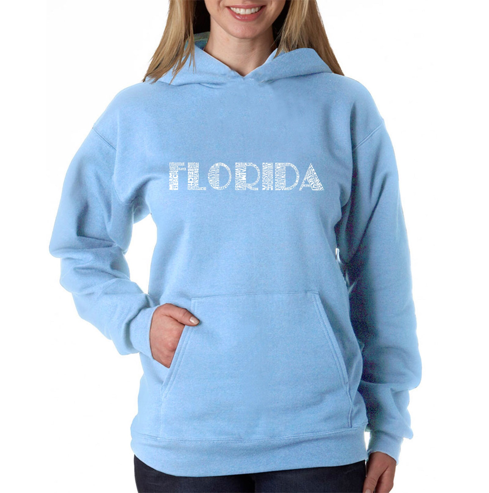 Women's Hooded Sweatshirt -POPULAR CITIES IN FLORIDA