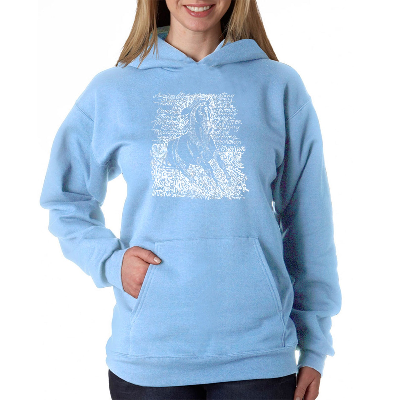 Women's Hooded Sweatshirt -POPULAR HORSE BREEDS