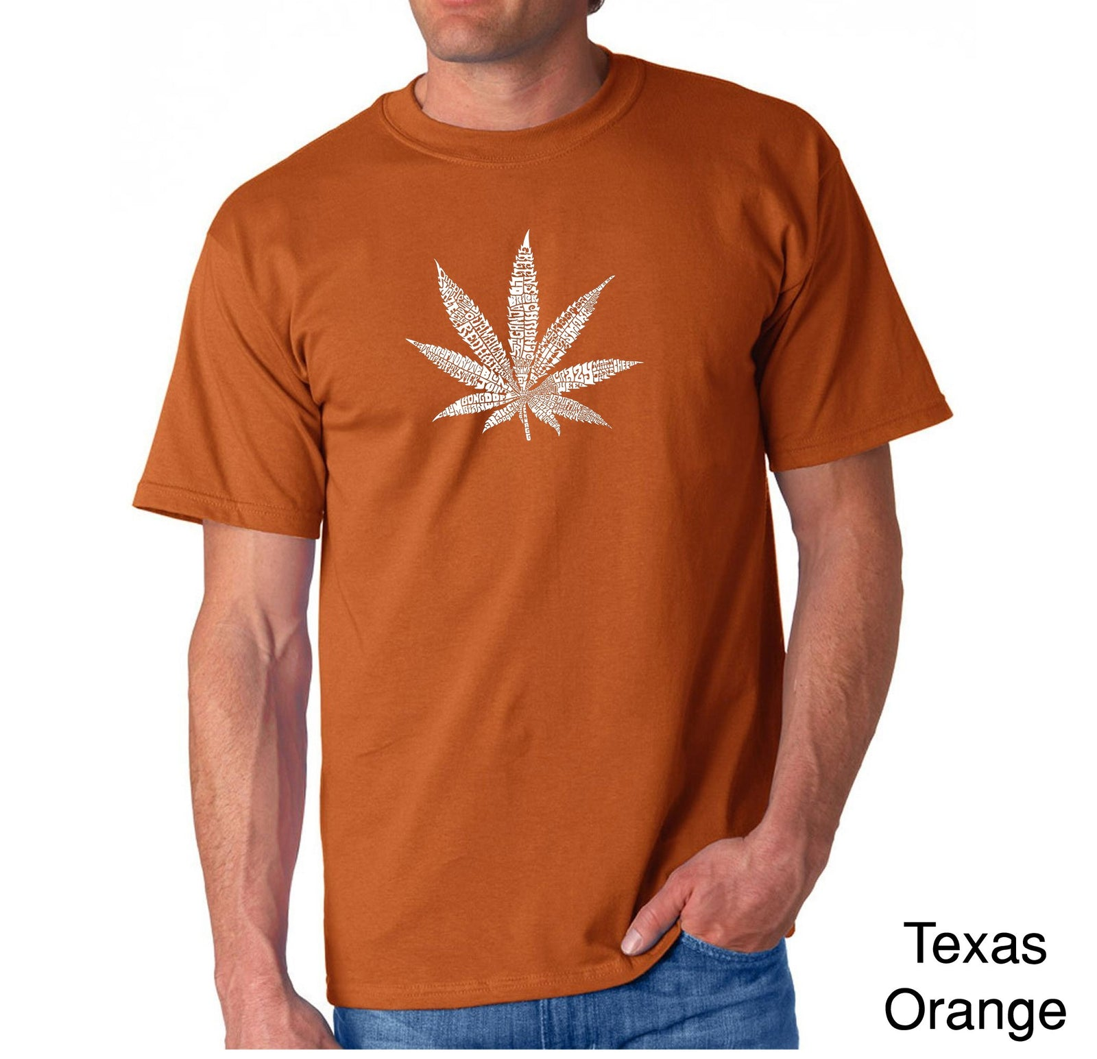 Men's T-shirt - 50 DIFFERENT STREET TERMS FOR MARIJUANA